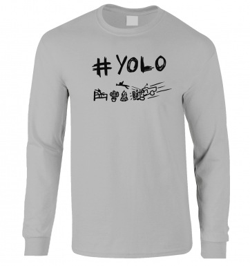 #YOLO long-sleeved t-shirt