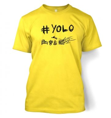 #YOLO mens t-shirt