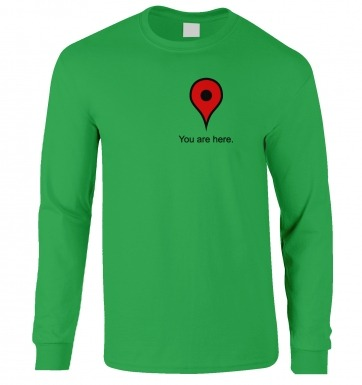 You Are Here Heart long-sleeved t-shirt