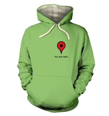 You Are Here Heart hoodie (premium)
