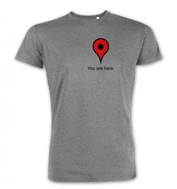 You Are Here Heart premium t-shirt