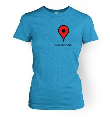 You Are Here Heart women's t-shirt