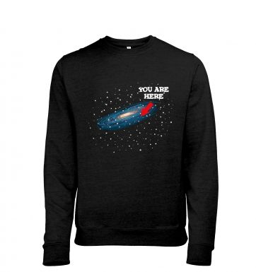 You Are Here men's heather sweatshirt