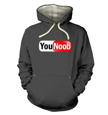 YouNoob (white background) hoodie (premium)
