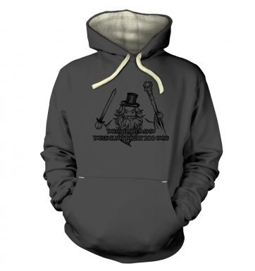 You Shall Not Pass Go hoodie (premium)
