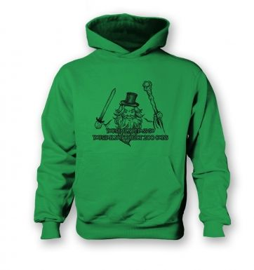 You Shall Not Pass Go kids' hoodie