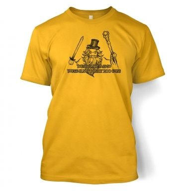 You Shall Not Pass Go t-shirt