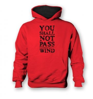 you shall not pass wind   kids hoodie (contrast)
