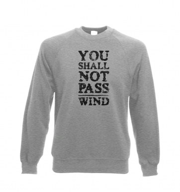 you shall not pass wind sweatshirt
