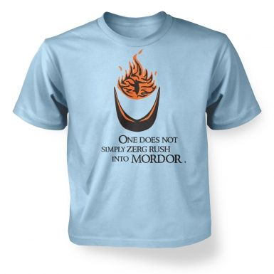 Zerg Rush into Mordor  kids t-shirt