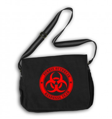 Zombie Outbreak Response Team messenger bag