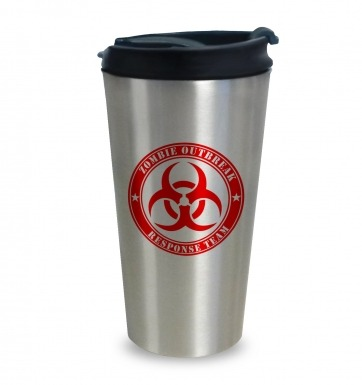 Zombie Outbreak Response Team travel latte mug
