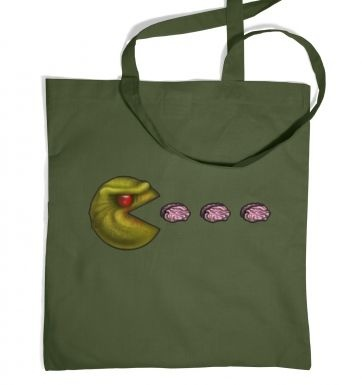 Zombie Pacman tote bag