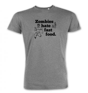 Zombies Hate Fast Food  premium t-shirt