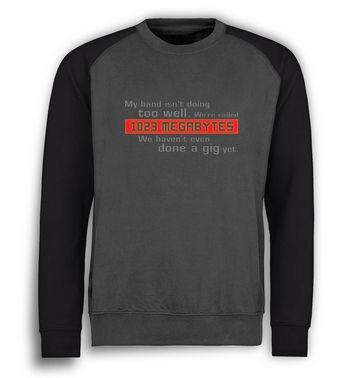 1023 Megabytes baseball sweatshirt