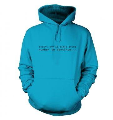 11 Digit Prime Number hoodie