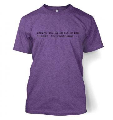 11 Digit Prime Number  t-shirt