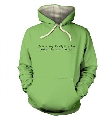 11 Digit Prime Number hoodie (premium)
