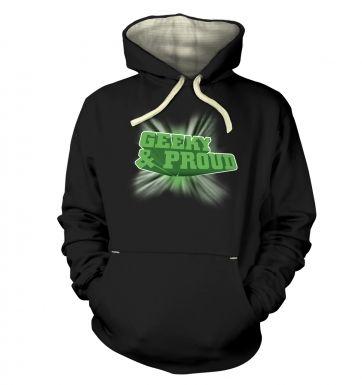 3D Geeky And Proud  hoodie (premium)