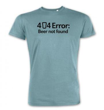 404 Error: Beer Not Found  premium t-shirt
