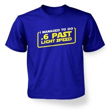 .6 Past Light Speed kids' t-shirt