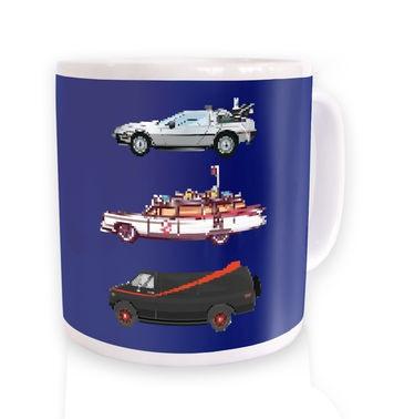 80s Pixel Cars mug