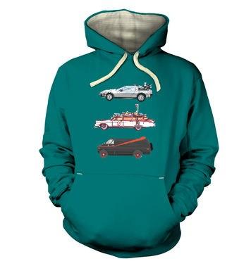 80s Pixel Cars premium hoodie