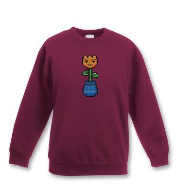 8-Bit Tulip kids' sweatshirt