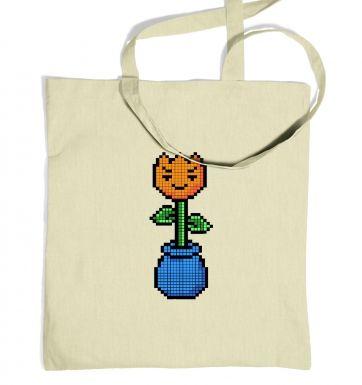8-Bit Tulip tote bag