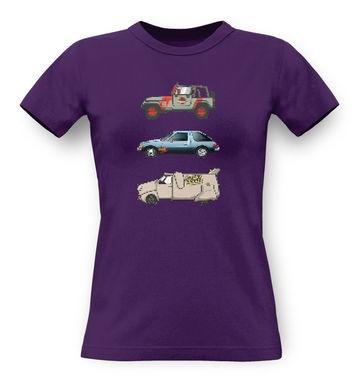90s Pixel Cars classic women's t-shirt
