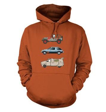 90s Pixel Cars hoodie