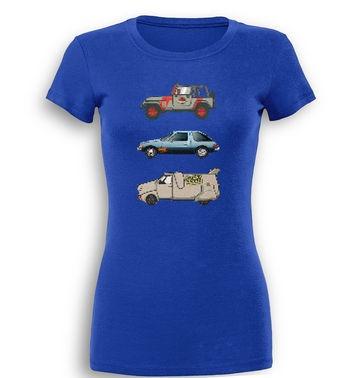 90s Pixel Cars premium women's t-shirt