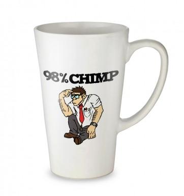 98% Chimp tall latte mug