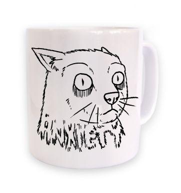 Anxiety Cat mug