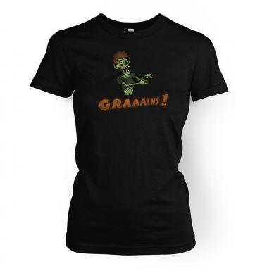 Veggie Zombie  womens t-shirt