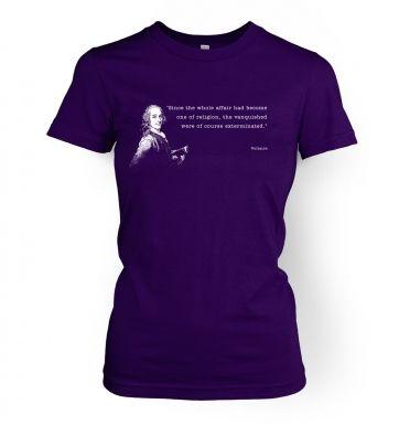 Affair Of Religion Voltaire  womens t-shirt