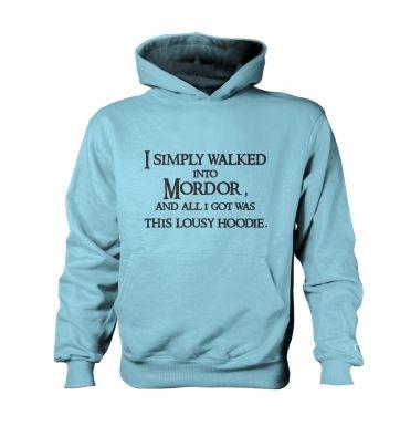 A Hoodie From Mordor kids' hoodie (contrast)