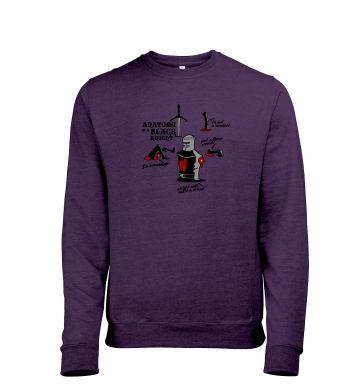 Anatomy of a Black Knight heather sweatshirt
