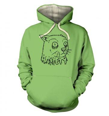 Anxiety Cat  hoodie (premium)