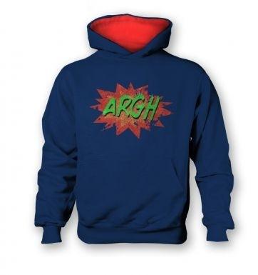 Argh   kids hoodie (contrast)