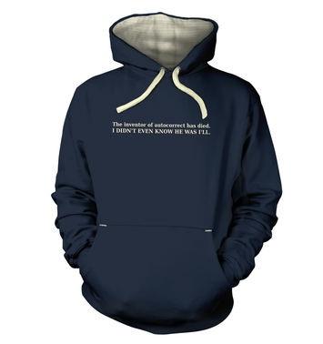 Autocorrect hoodie (premium)