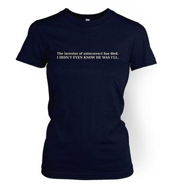 Autocorrect women's t-shirt