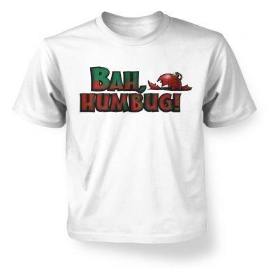 Bah humbug!  kids t-shirt