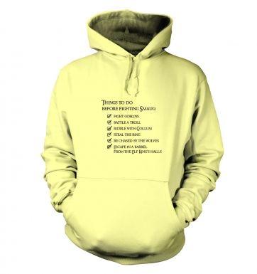 Before Smaug todo list hoodie