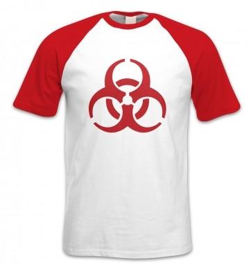 Biohazard short-sleeved baseball t-shirt
