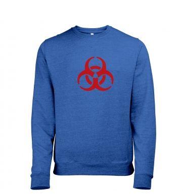 Biohazard Symbol heather sweatshirt