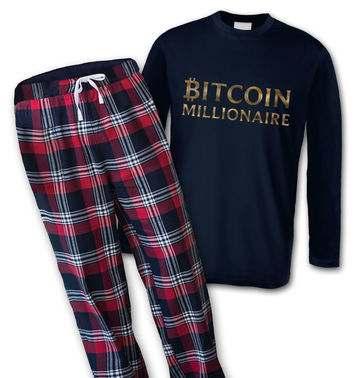 Bitcoin Millionaire mens long sleeve pyjamas