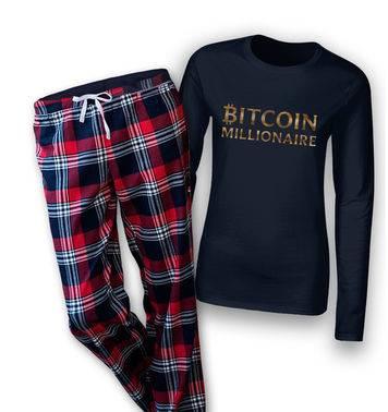 Bitcoin Millionaire womens long sleeve pyjamas