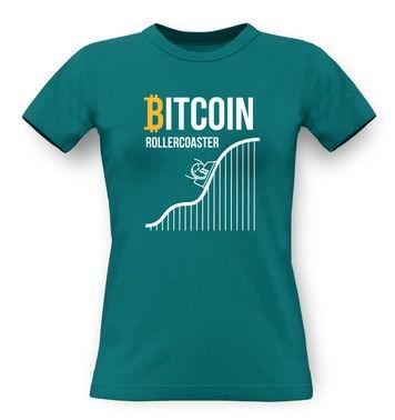 Bitcoin Rollercoaster classic womens t-shirt