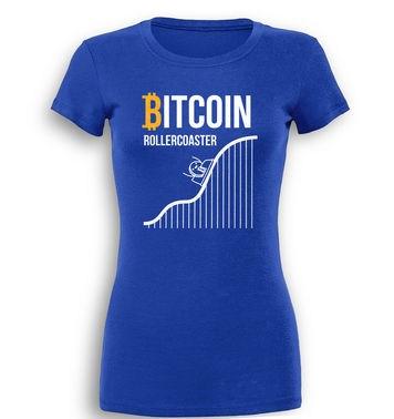 Bitcoin Rollercoaster premium womens t-shirt